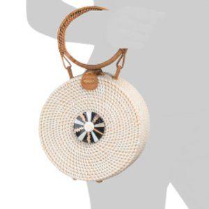 NWT * STRAW STUDIOS Handmade Round Bag